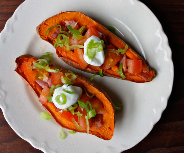 Game Day Recipes: Sweet Potato Skins with Turkey Bacon | BeachbodyBlog.com