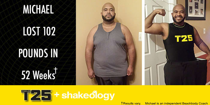 Transformation Tuesday: Michael Lost 102 Pounds With FOCUS T25