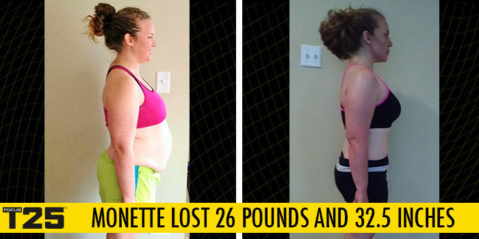 Transformation Tuesday: Monette Lost 26 Pounds with FOCUS T25! | The
