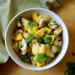 Tropical Salad with Chicken and Mango