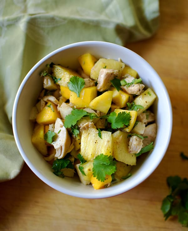 Tropical Salad with Mango, Avocado and Chicken Recipe