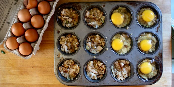 Turkey and Stuffing Breakfast Cups