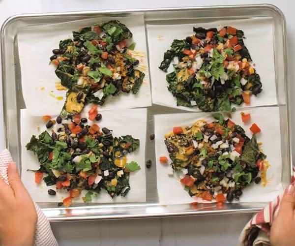 Vegan Kale Nachos