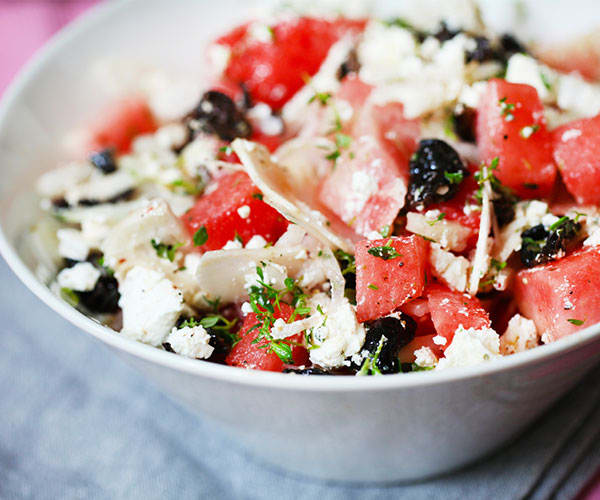 Watermelon, Feta, and Kalamata Olive Salad | BeachbodyBlog.com