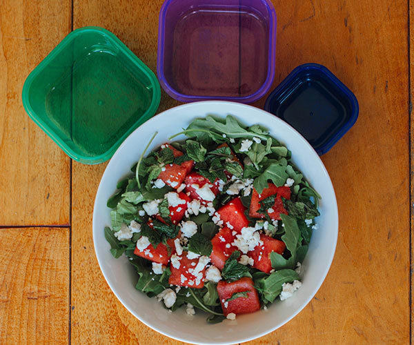 Watermelon and Arugula Salad with 21 Day Fix Containers