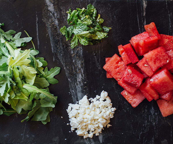 Watermelon and Arugula Salad Ingredients