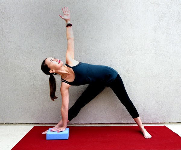 Yoga for the Knees Triangle Pose