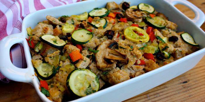 Zucchini stuffing recipe with mushrooms and garlic