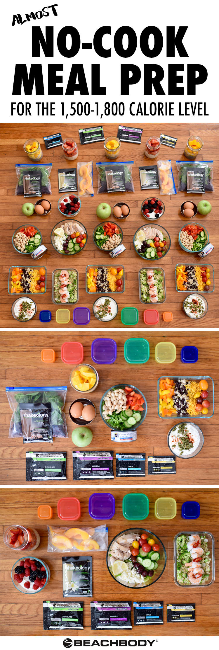 Almost No-Cook Meal Prep for the 1,500-1,800 Calorie Level #mealplanning #mealprep #healthyeating