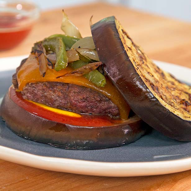 Healthy 4th of July Recipes: Cheeseburger with Eggplant Bun