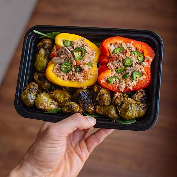 Ground turkey-stuffed bell peppers meal prep | BeachbodyBlog.com