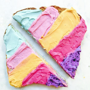 Unicorn Toast by Vibrant and Pure
