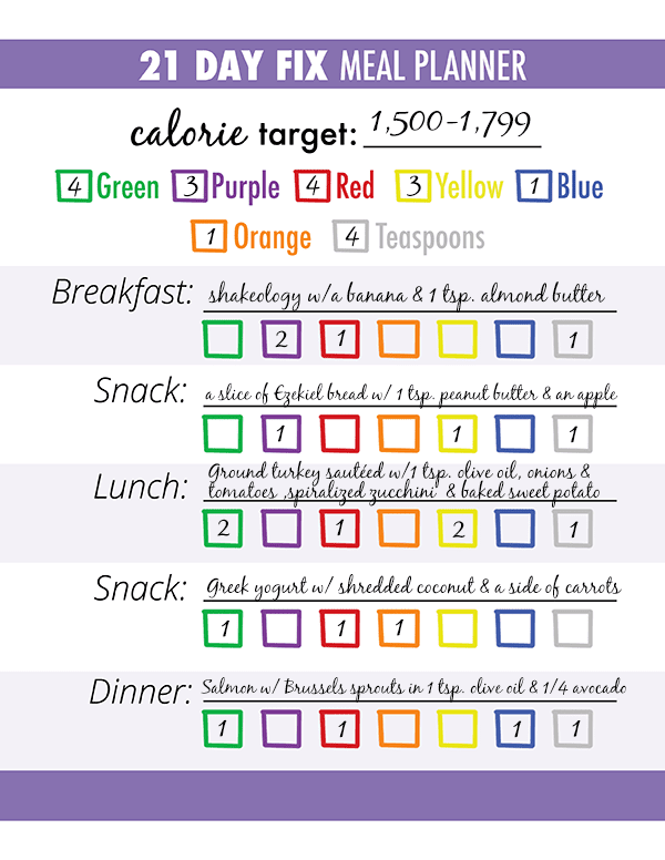 3 Steps for Successful 21 Day Fix Meal Planning | The ...