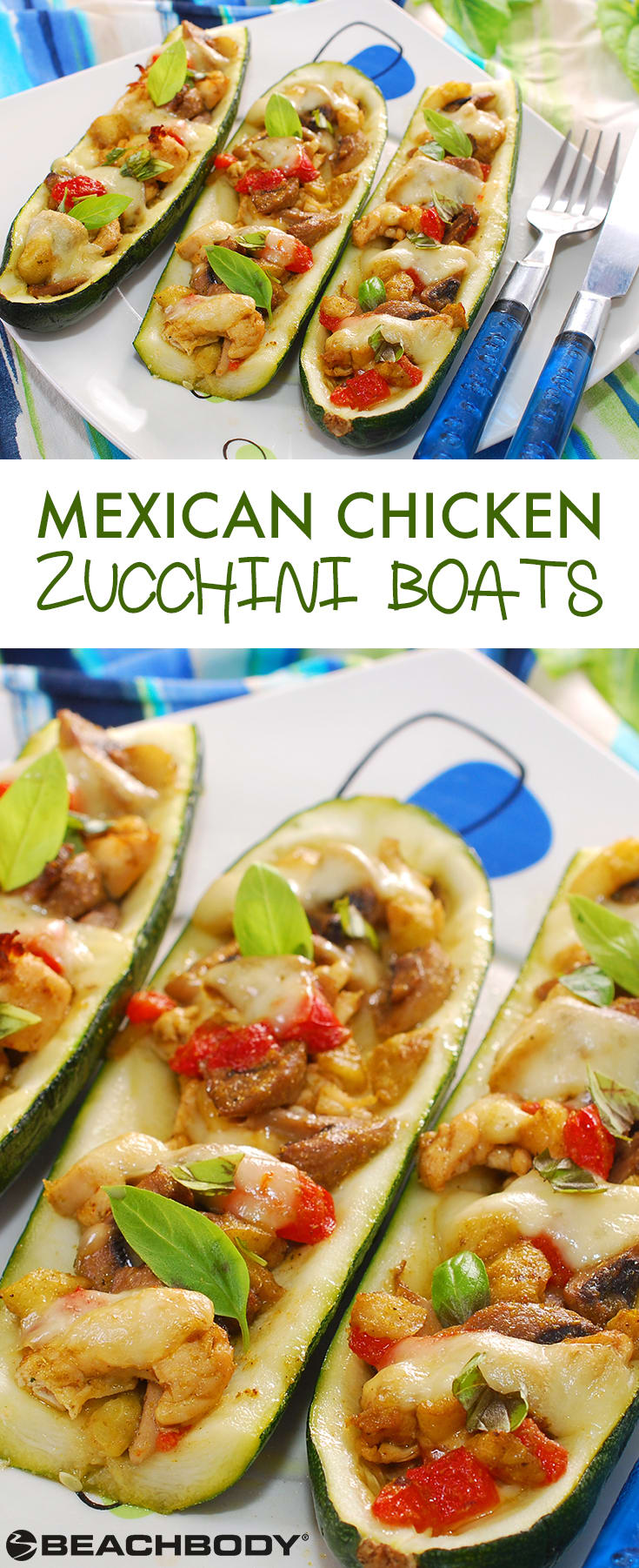Mexican Chicken Zucchini Boats | BeachbodyBlog.com
