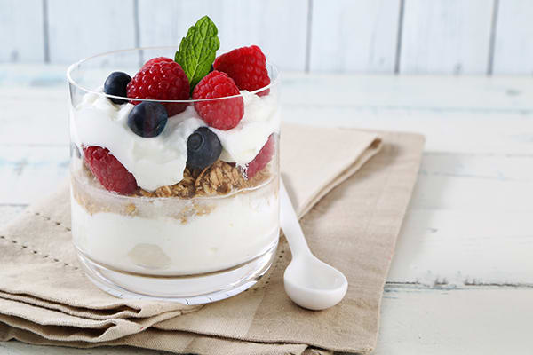 Double Time Family Recipes, Yogurt Berry Parfait breakfast recipe