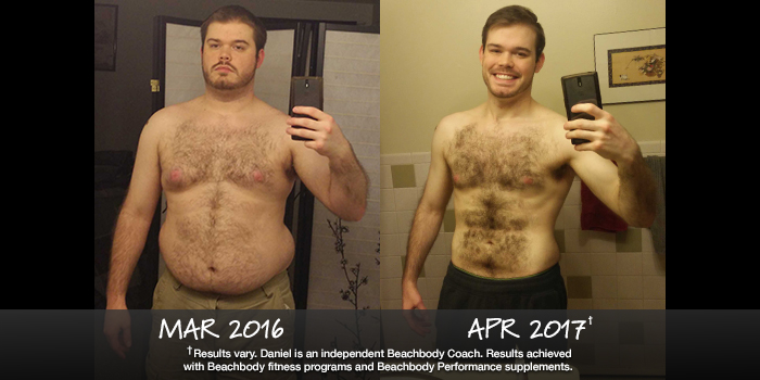Daniel Lost 61 Pounds with Beachbody. See his results!