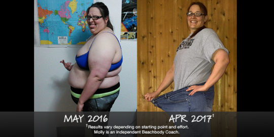 Molly lost 120 lbs in 9 months and won $1,000. See her results!