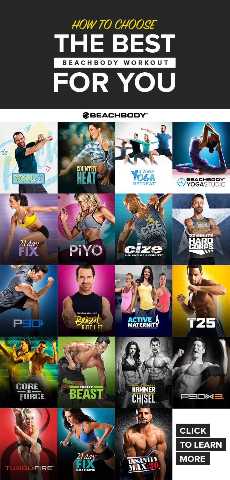 Maybe 21 Day Fix is the best workout for you, or maybe you should give Core De Force a try! Stuck on which Beachbody program you want to try? Check out this blog to see which one (or two!) could be right for you!