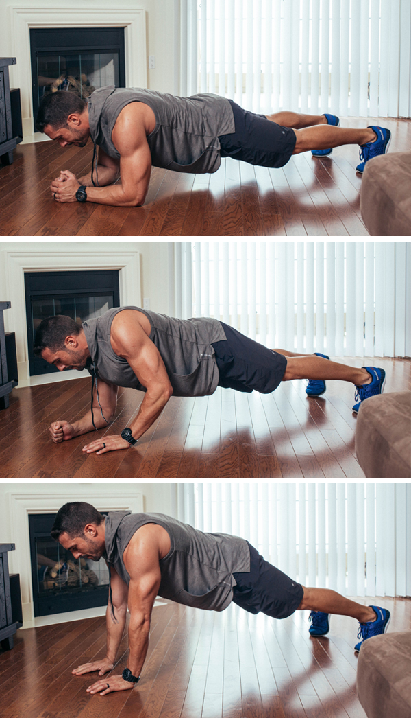 The Best Core Exercises for Abs - Forearm to Straight Arm Plank