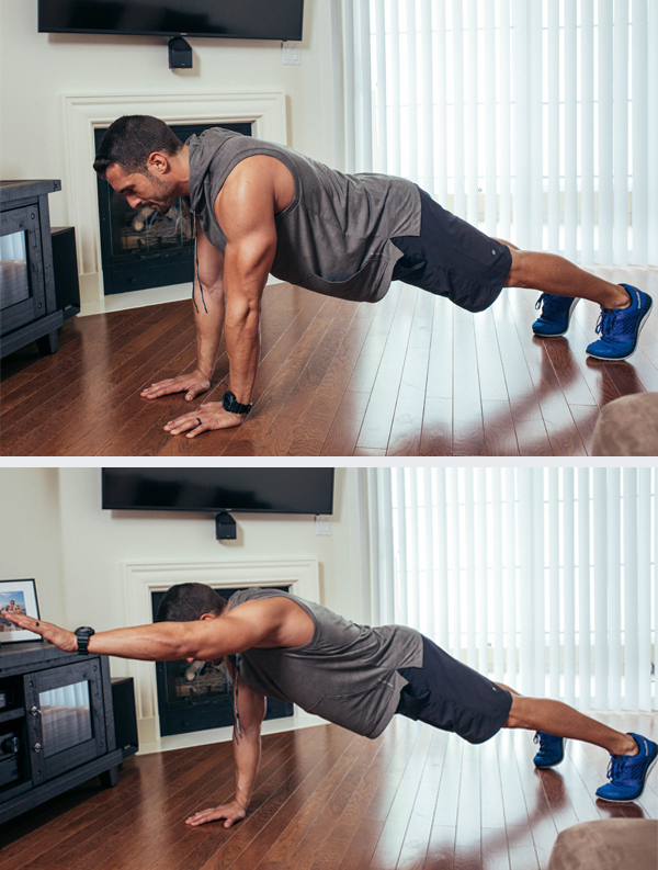The Best Core Exercises for Abs - Single Arm Plank