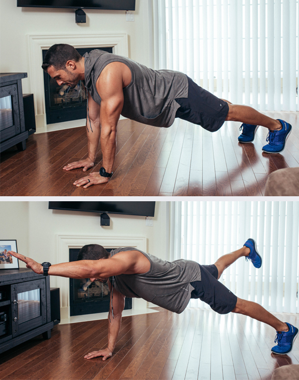 The Best Core Exercises for Abs - Single Arm, Single Leg Plank