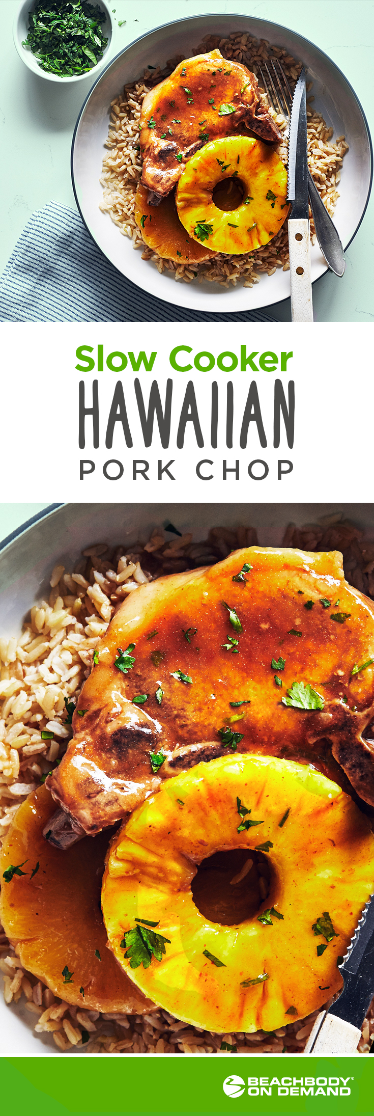 Slow Cooker Hawaiian Style Pork Chops