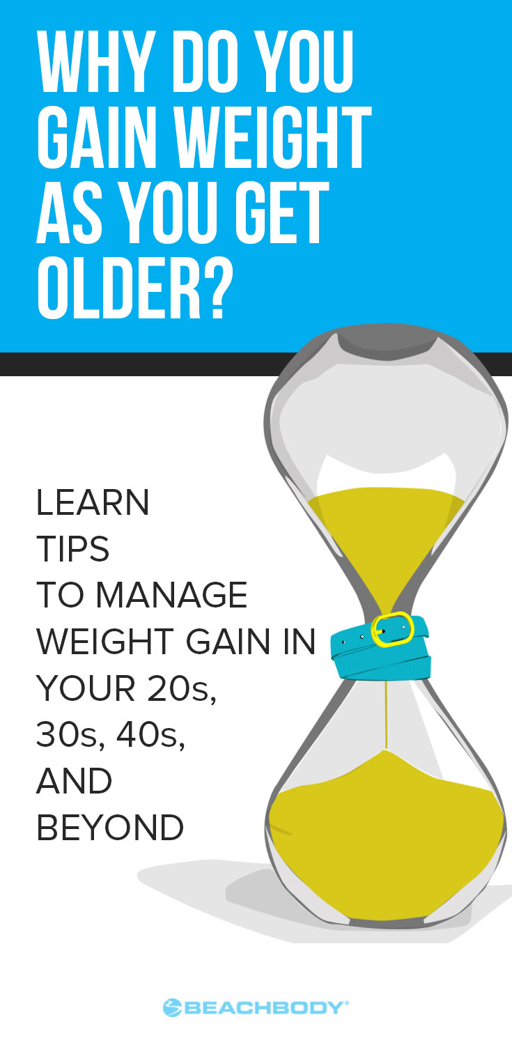 Why do you gain weight as you get older? Read this blog about how to lose weight even with age, and how to prevent gaining weight as you get older.
