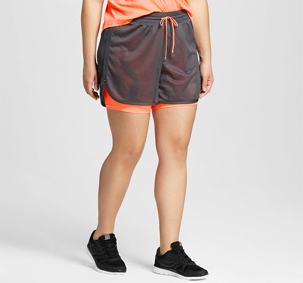 Plus Size Workout Clothes - C9 Champion Layered Shorts