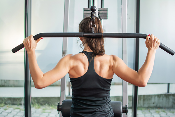 Controversial Exercises Under Attack behind the neck lat pull down