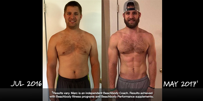 Beachbody Results: Marc Lost 44 Pounds with P90X3 and 22 Minute Hard Corps
