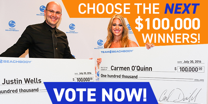 Choose the Next $100,000 Winners of the Beachbody Challenge!