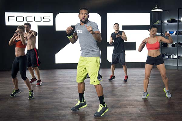 Shaun T doing FOCUS T25 workout