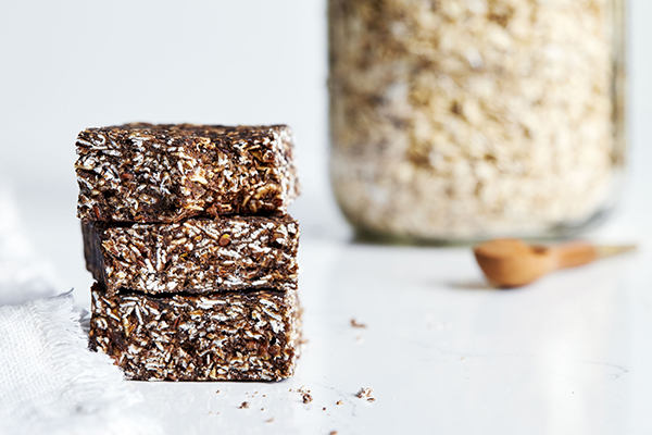 Double Time Family Recipes, No-Bake Oatmeal Protein Bars recipe