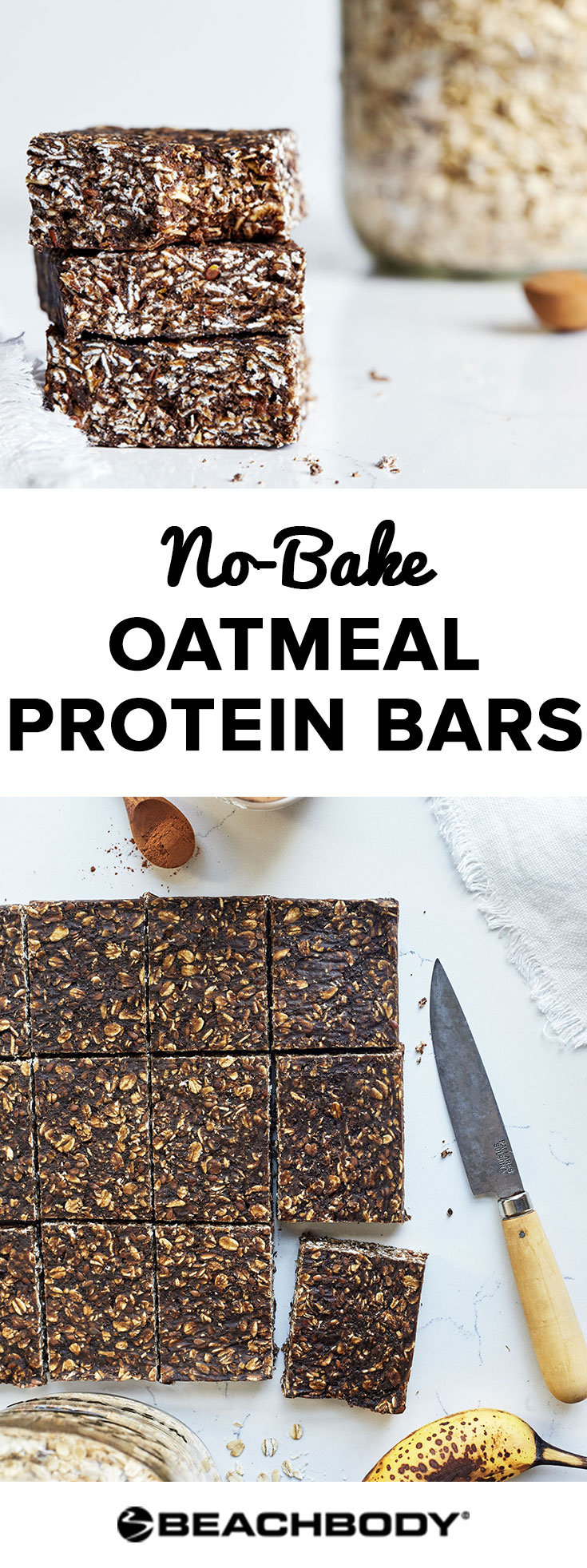 This No-Bake Oatmeal Protein Bars recipe is easy, delicious, and doesn't require any cooking.