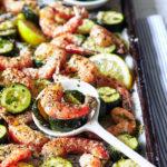 Sheet Pan Garlic Shrimp Zucchini