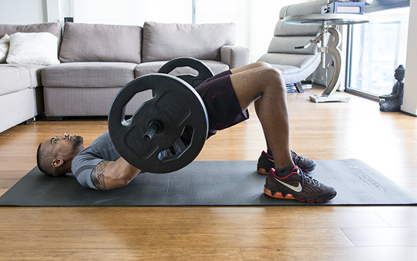 5 of the Best Leg Exercises That Aren't Leg Press barbell glute bridge