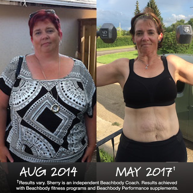 Sherry lost 107 pounds at age 50!
