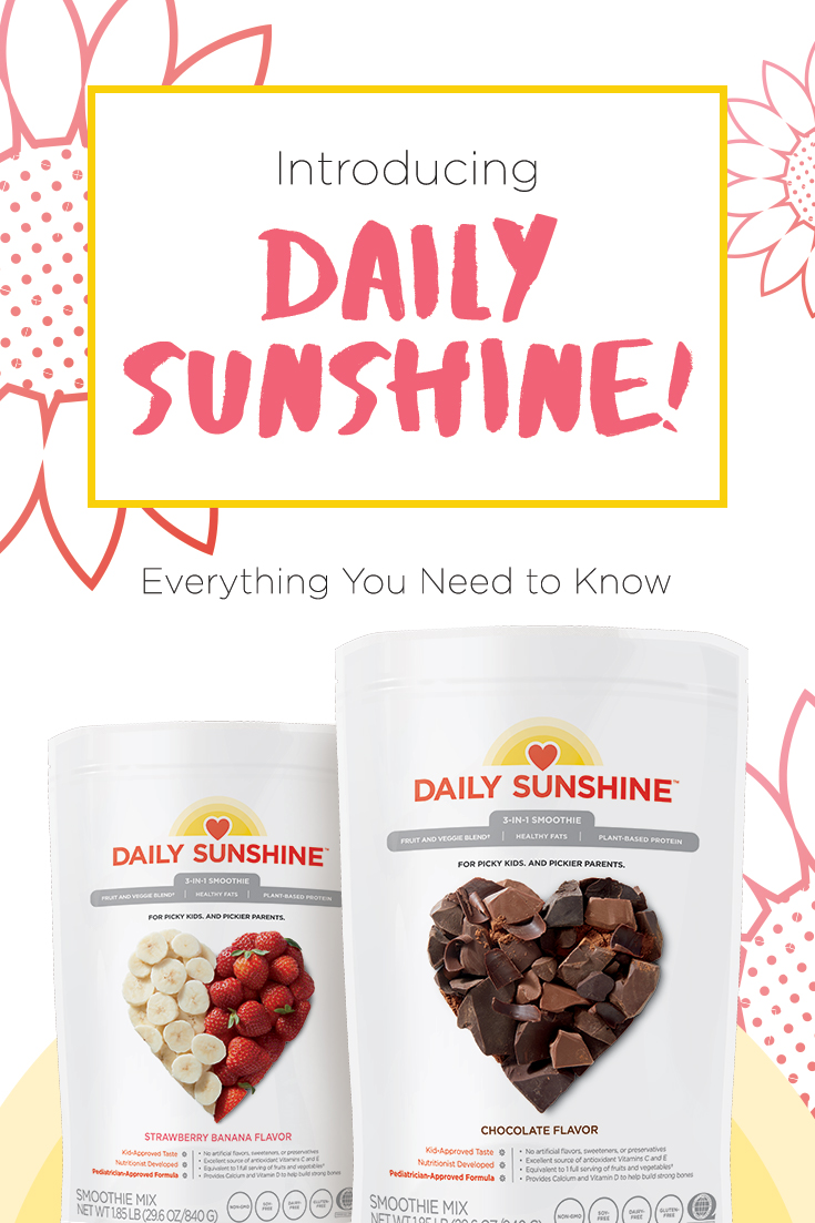 Introducing Daily Sunshine, Beachbody's newest nutrition smoothie shake for kids.