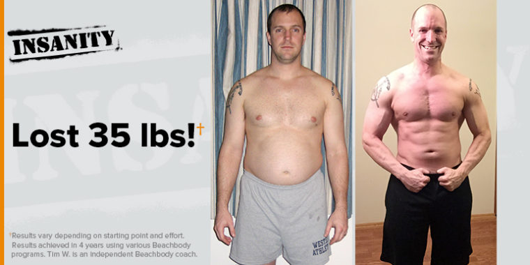 INSANITY results, before and after
