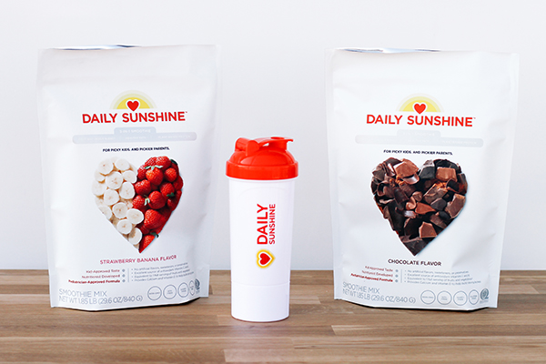 Daily Sunshine bags and shaker cup