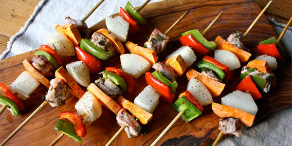 Pork and Sweet Potato Kabobs