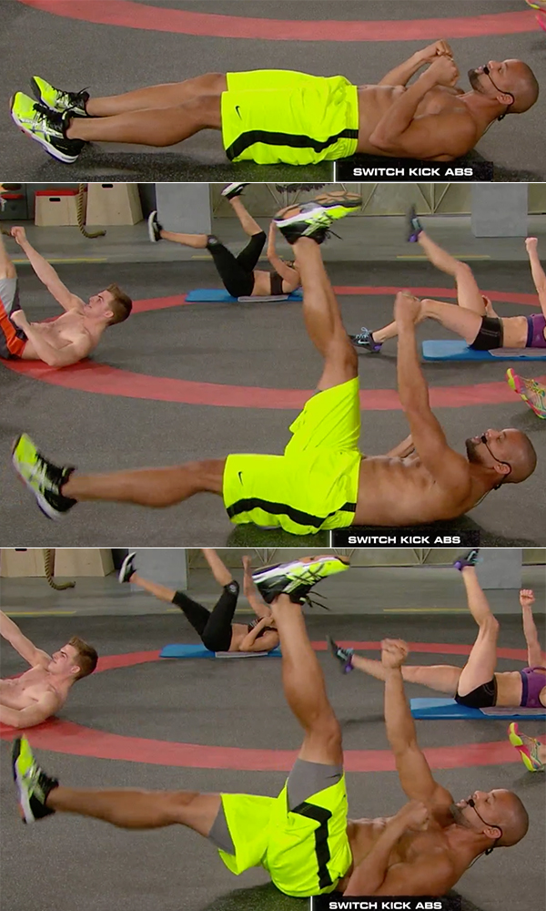 best abs exercises men and woman switch kick abs shaun t insanity max 30