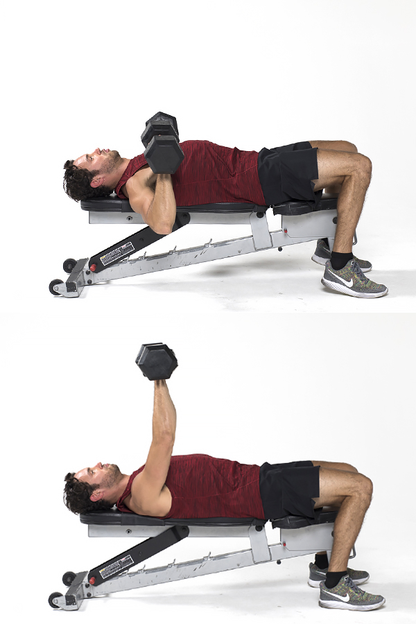 Dumbbell chest press - Strength training workouts