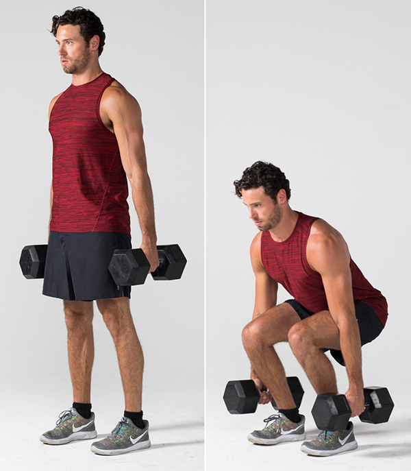 Dumbbell squat - Strength training workouts