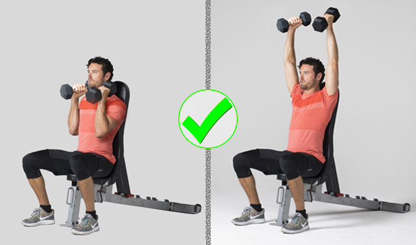 7 Exercises People Usually Do Wrong - overhead press