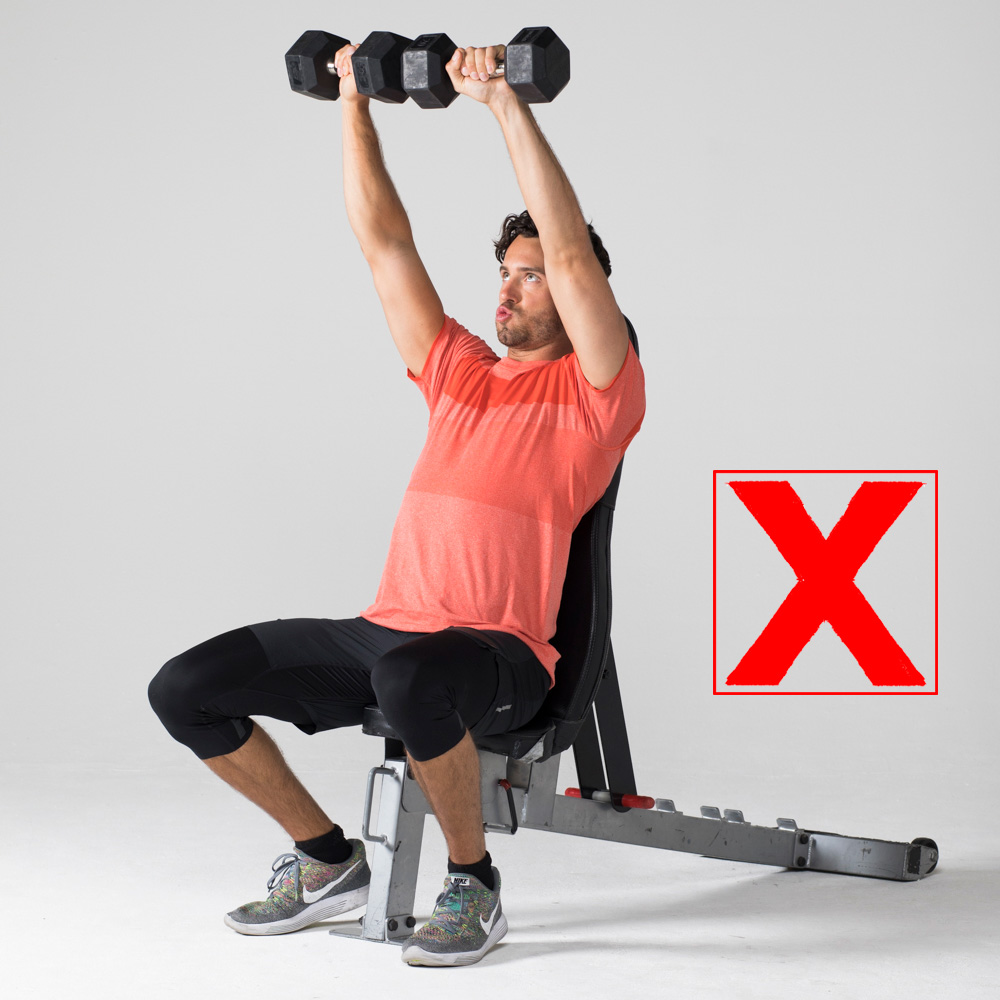 7 Exercises People Usually Do Wrong And How to Correct Them overhead press wrong