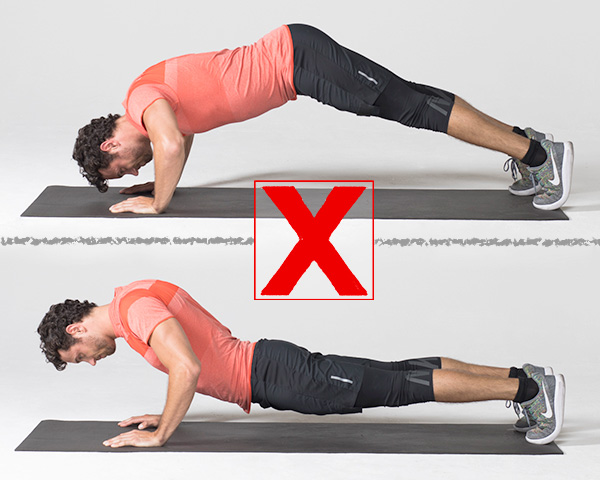 7 Exercises People Usually Do Wrong And How to Correct Them plank wrong
