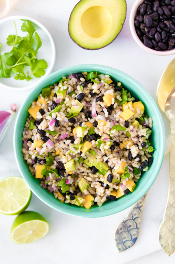 Brown Rice Black Bean Salad