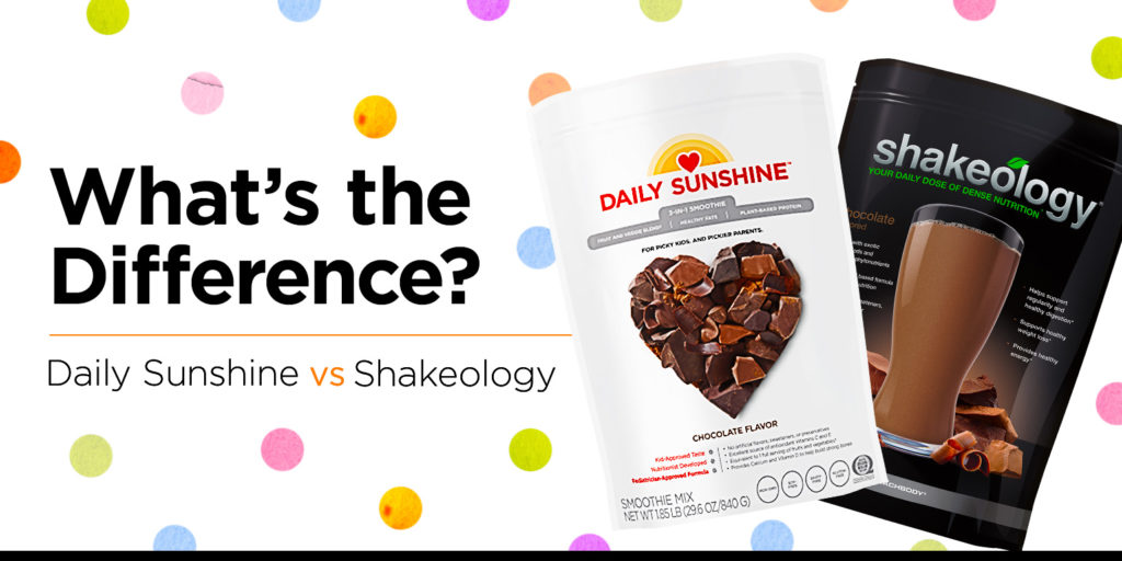 shakeology vs. daily sunshine: what's the difference?