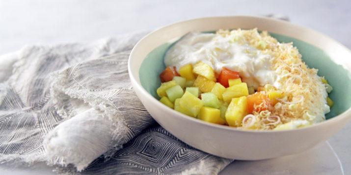 Pina Colada Fruit and Yogurt Salad